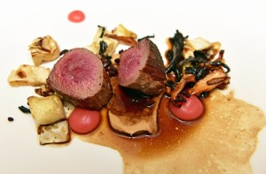 Manoir Hovey - Le Hatley Restaurant - Red Deer Gigue, Apples, Wild Mushrooms, Elderberry and Cabbage