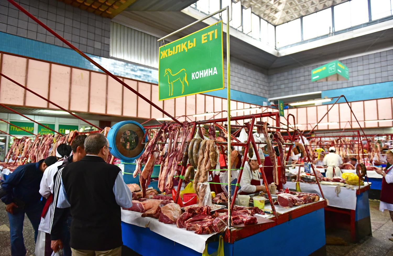 Green Market - HAlmaty Green Market - Horse Meatorse Meat