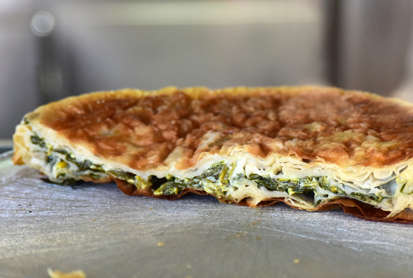 Kosovan Cuisine - Tony and Tina's Pizzeria - Spinach Burek