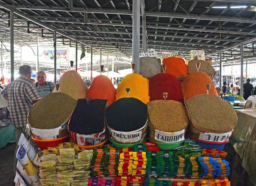 Dushanbe - Shah Mansur Bazaar - Spices