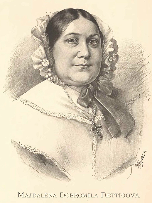 Portrait of Magdalena Dobromila Rettigová by Jan Vilímek