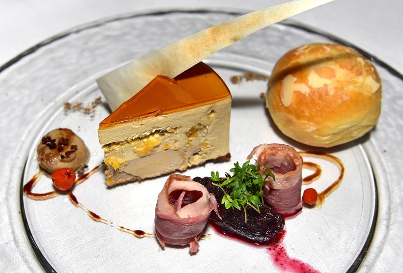 Vienna - Hotel Sacher - Rote Bar - Sacher Goose Liver Cake