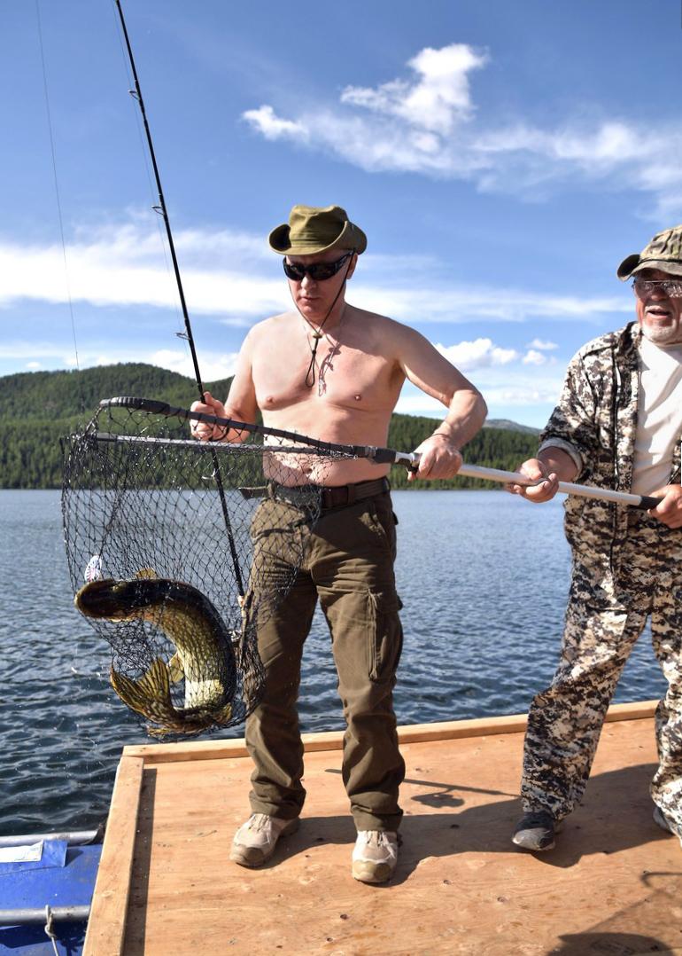 Vladimir Putin Fishing in Siberia