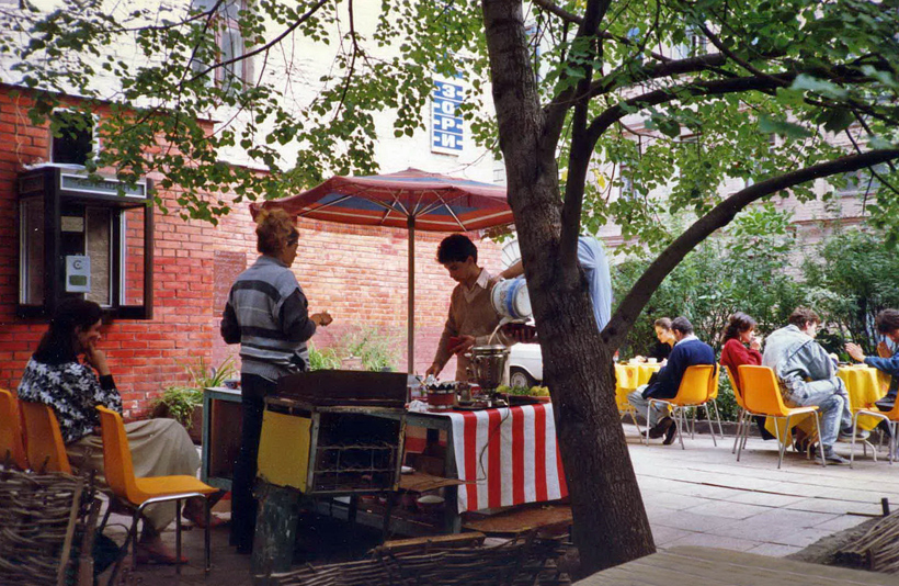 Moscow  - Cooperative Café on Maly Kozinsky Lane (1988)