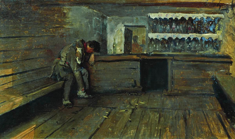 Andrei Petrovich Ryabushkin - The Tavern (1891)