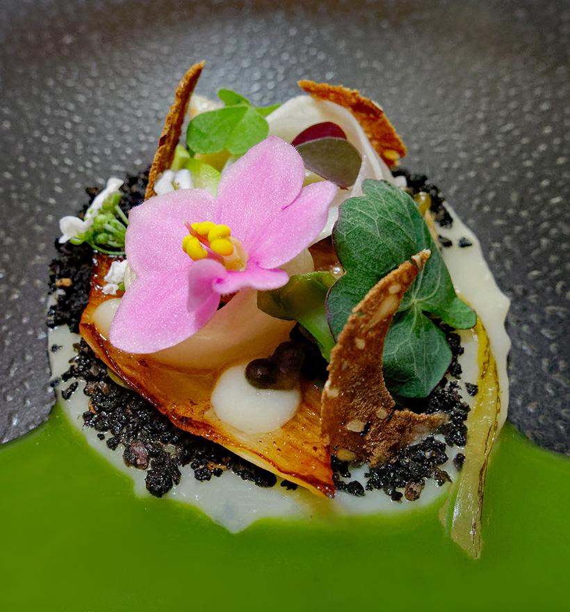 Budapest - Onyx Restaurant - Pickled Asparagus, Parsley, Wild Garlic