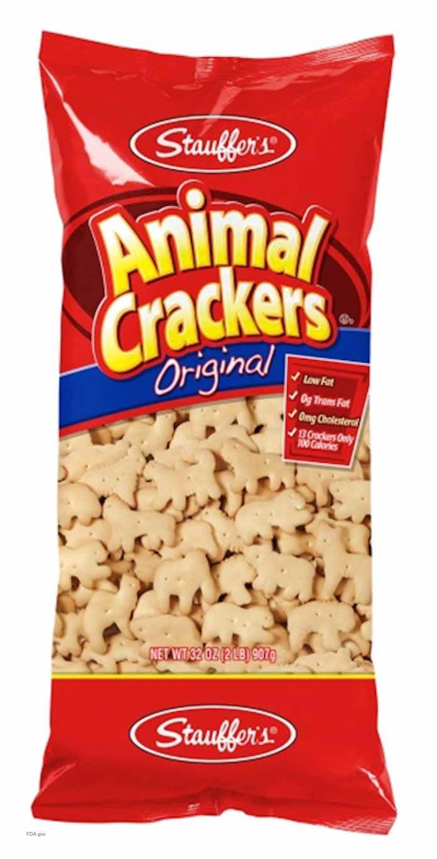 Stauffer's Animal Crackers Recalled for Undeclared Milk