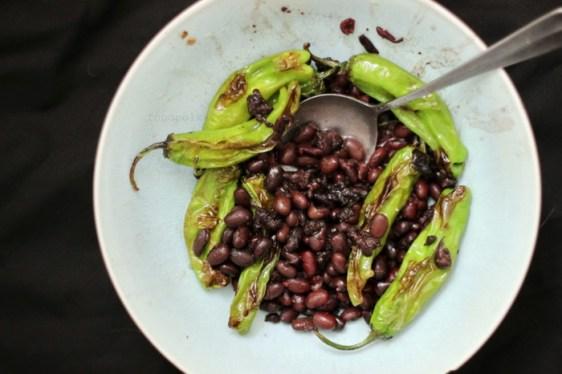 black beans shishito