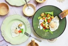 potatos carrots peas dill egg