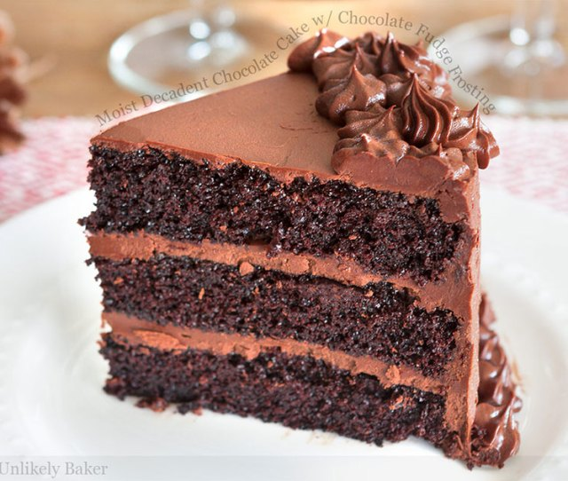 Moist Decadent Chocolate Cake With Chocolate Fudge Frosting