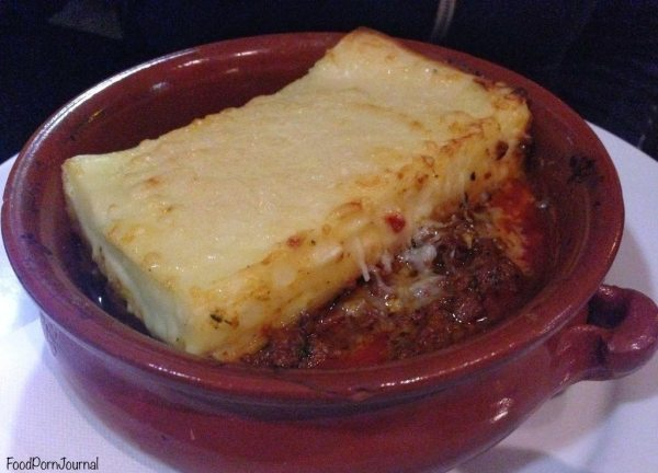 Cafe Sopra Sydney lasagna
