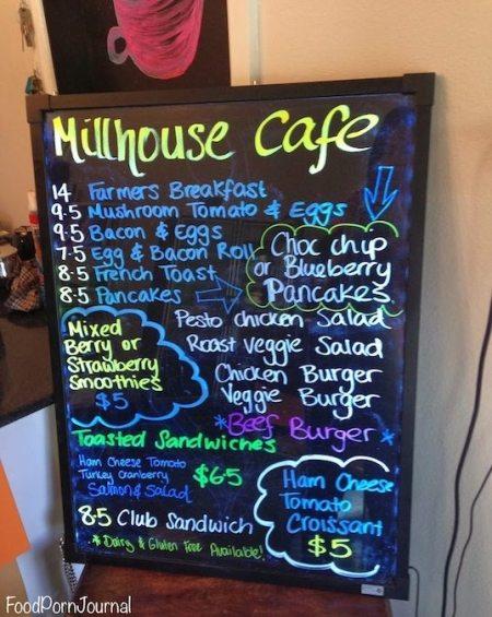 Millhouse Cafe menu
