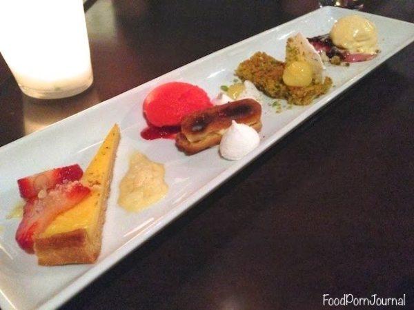 Pistachio Dining dessert tasting plate