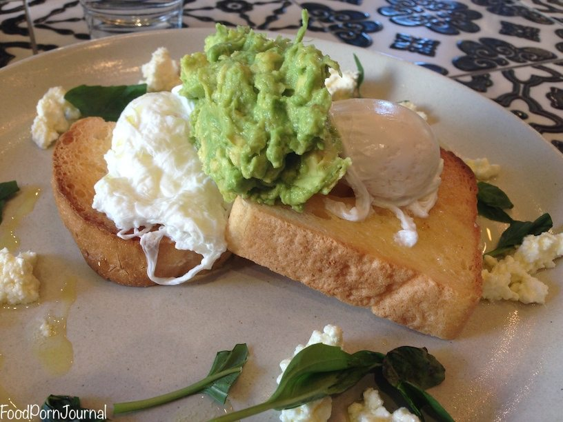 Chatterbox espresso smashed avocado