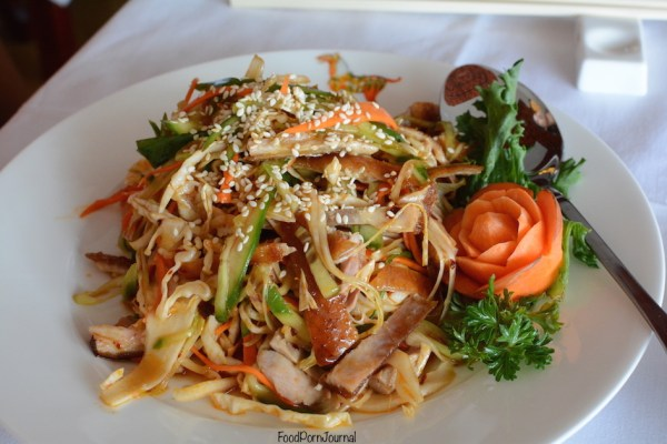 Tang Dynasty Kingston Foreshore duck salad