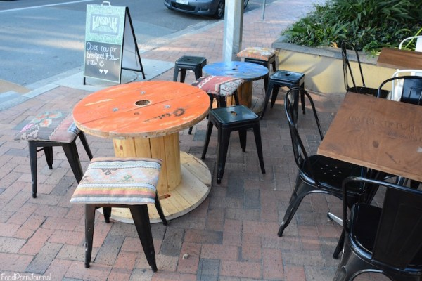On Flinders Manuka outdoor tables