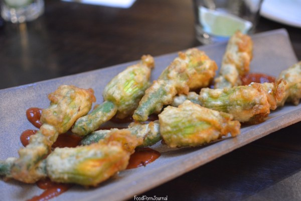 Parlour Wine Room zucchini flowers