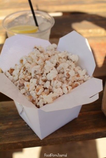The Forage Boat House by the Lake bacon popcorn