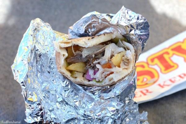 Westside Habibiz chicken roll