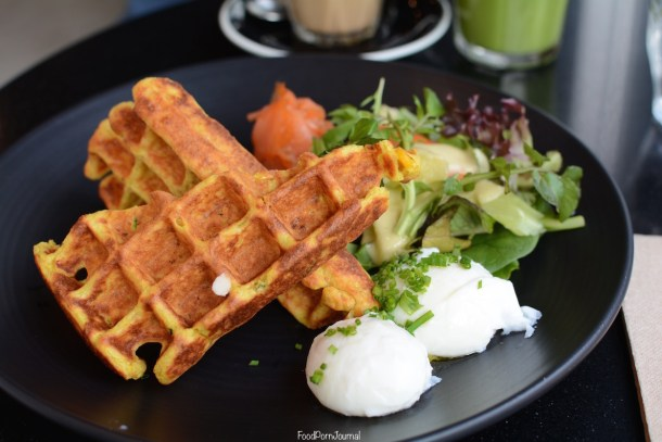 Maple and Clove Barton corn waffles breakfast
