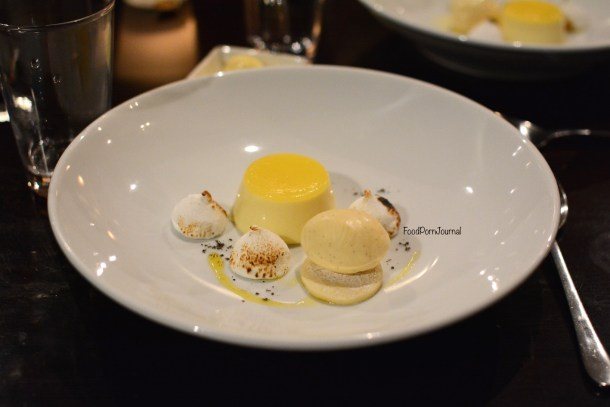 Pistachio Dining Canberra mandarin pannacotta dessert
