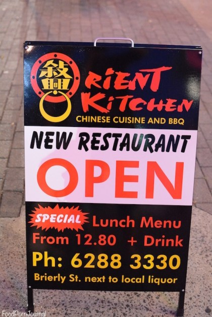 Orient Kitchen sign