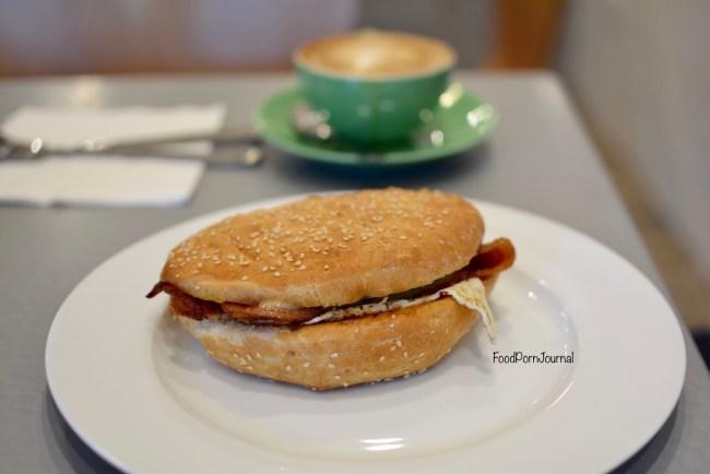 Hot Pop Cafe Braddon egg bacon roll