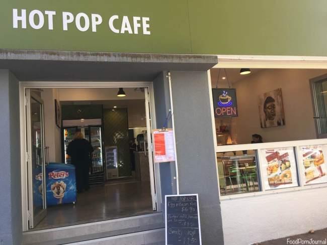 Hot Pop Cafe Braddon outside