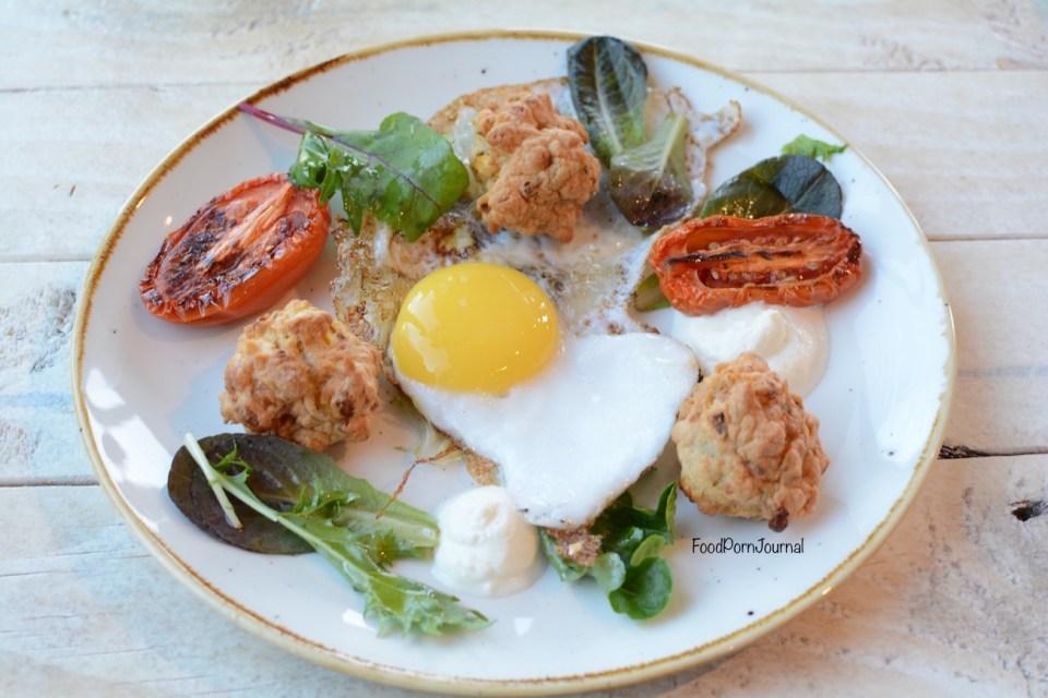 The Pedlar Campbell fried duck egg