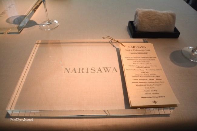 Narisawa Tokyo setting