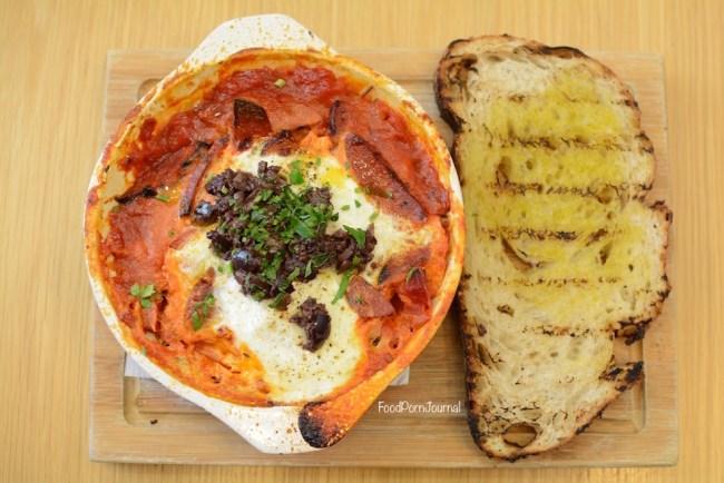 National Museum Australia cafe baked eggs