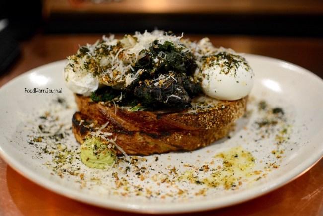 Casey Jones gastropub breakfast kale poached eggs
