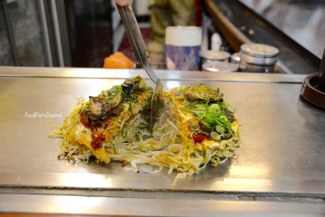 Japan Hiroshima Okonomimura Takenoko okonomiyaki