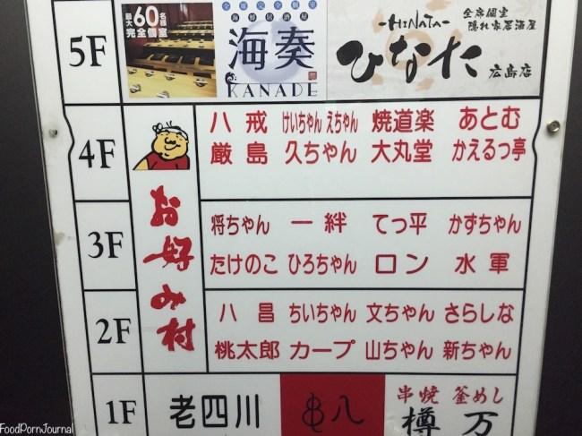Japan Hiroshima Okonomimura sign
