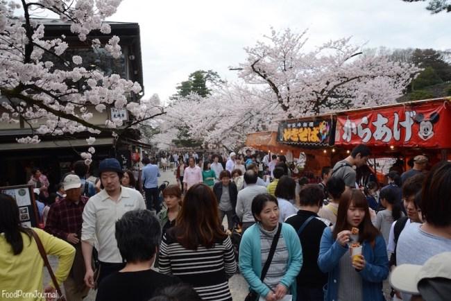 Japan Kanazawa street crowd