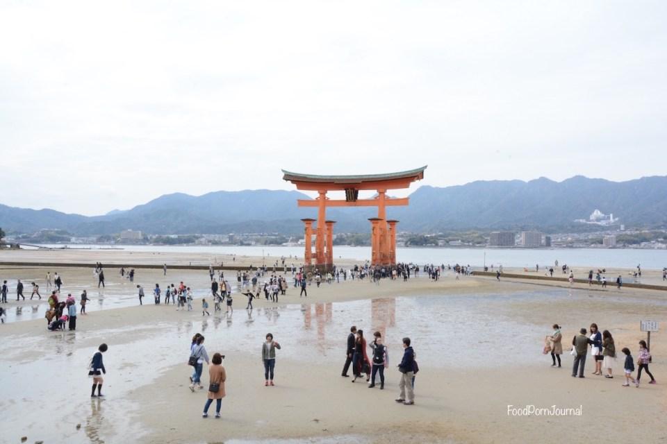 Japan Miyajima Island torii low tide