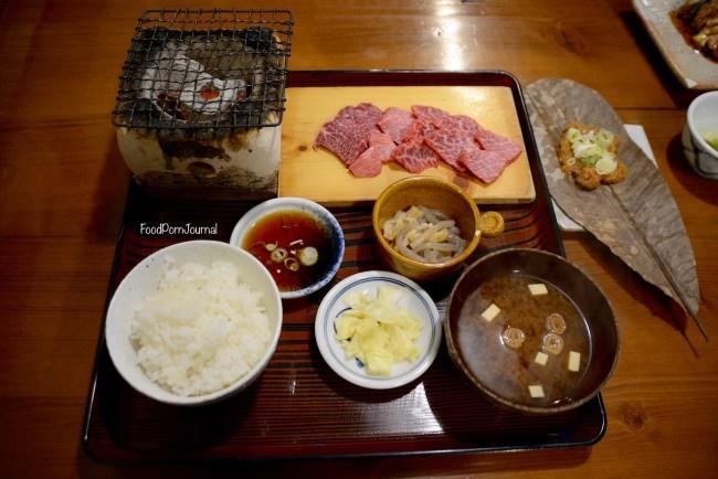 Japan Takayama Mikado beef grill set dinner