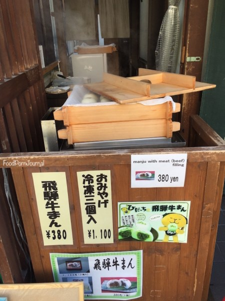Japan Takayama Miyagawa Market Hida beef buns