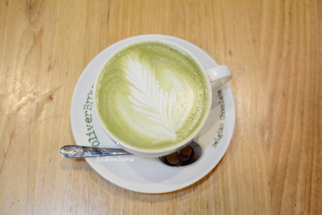 Oliver Brown matcha latte
