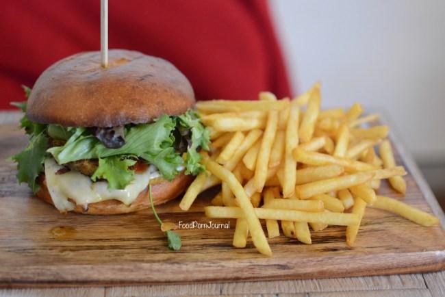 The Bearded Bean Cajun chicken burger