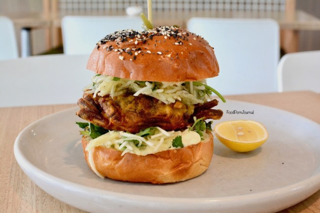 Long Story Short Melbourne soft shell crab burger