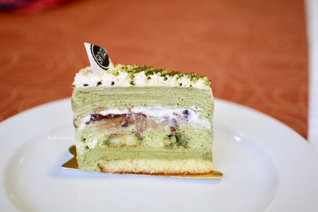 Sweetie and Moustache matcha mille crepe cake