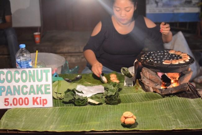 Luang Prabang coconut pancake stall