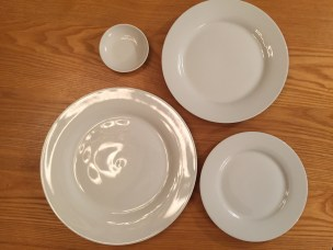 four plate sizes