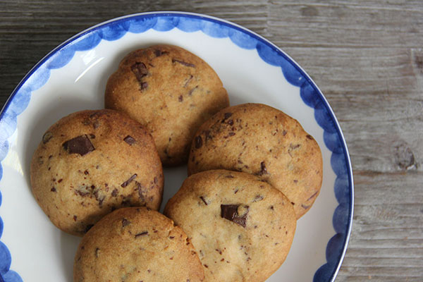 Chocolate chip koekjes van speltbloem