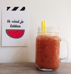 perzik watermeloen smoothie