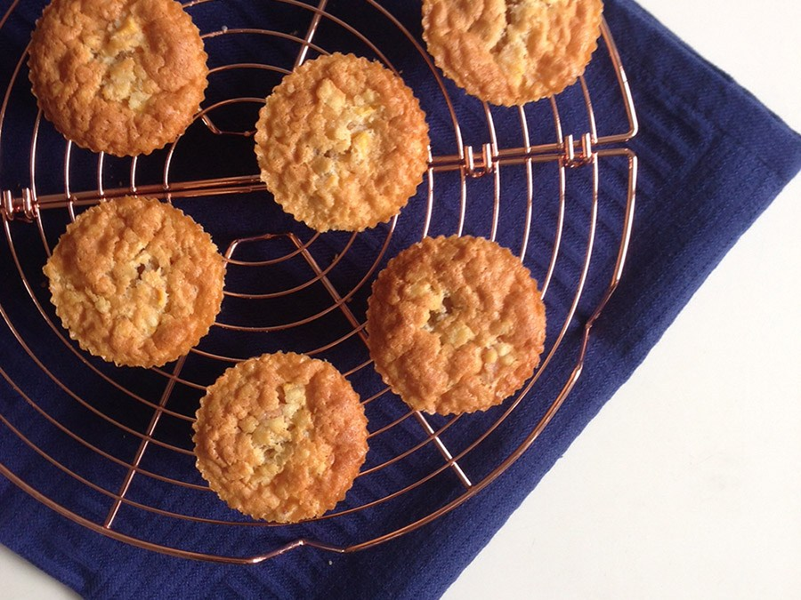 Cupcakes met perzik -Glutenvrij