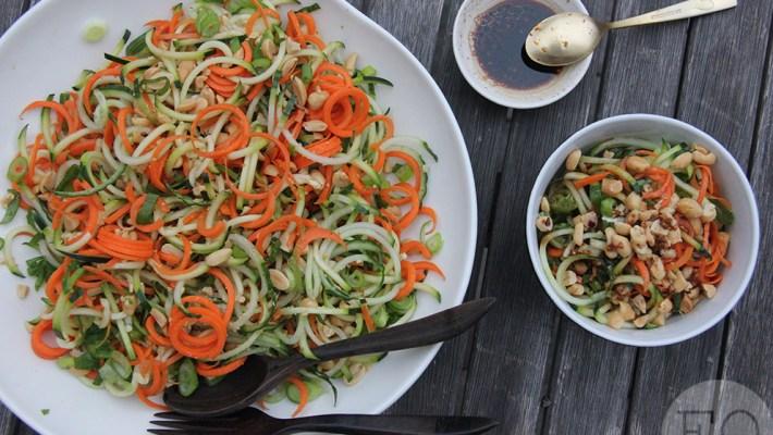 spirelli salade sojadressing