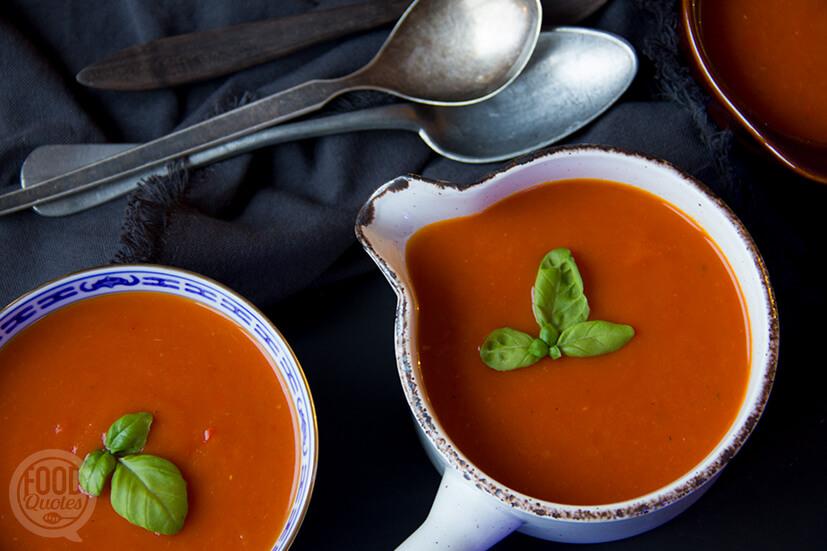 Tomatensoep met pompoen