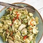 pastasalade groene asperges
